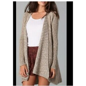 Free people open front draped cardigan sz s
